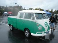 Green and White Double Cab