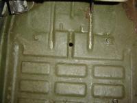 Thing floor mat holding pin