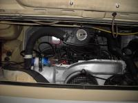 engine bay with new ignition