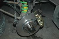 Van-Cafe Front Big Brake Kit with H&R adaptors for Porsche wheels
