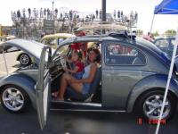 Mama and the kids at the 2002 Bug In