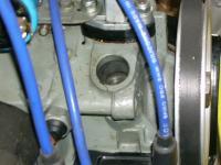 Case distributor oil slot