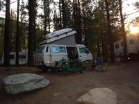 Set up camp w/ all the gaint RV's