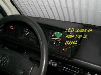 Poptop Warning Light Installation