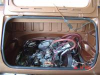 engine compartment before & after