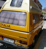 Stolen yellow CampingD Westfalia in ROME, Italy