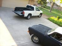 Moms truck and the square in the driveway
