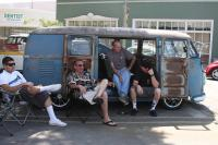 a bunch of fools hanging out in the 57 kombi