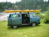 kayak on vanagon