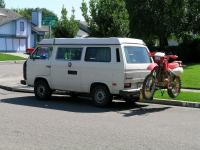 Vanagon with hitch carrier