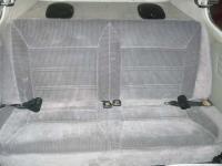 Rear seat picture. Plymouth Sundance seats