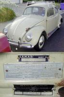 Original right hand drive '57 beetle