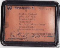 1961 VW Factory ID