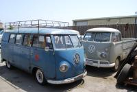 1954 dove blue barndoor kombi