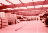 German VW Dealer Service Shop - 1960s VW promo slide