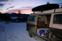 van in the mtns