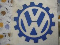 Volkswagen KdF Logo Decal Emblem Cog Wheel Sticker