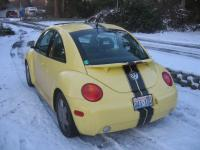 New Model Beetle in snow