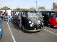 Checkered Bus with ragtop