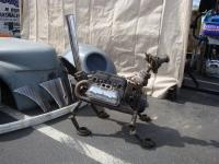 Dog made out of VW parts