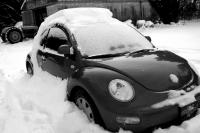 Snow Covered Volkswagen