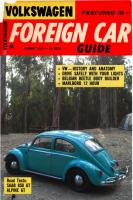Little Blue on the cover of a 1966 Foreign Car Guide