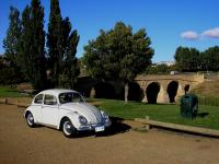 My Volkswagen beside the Richmond Bridge in Tasmania
