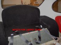 1965 Notch For Carpet Strip Behind Rear Seat
