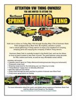 Northeast Spring Thing Fling 2009 flyer