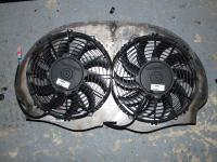 excisting and not yet excisting cooling fan shroud