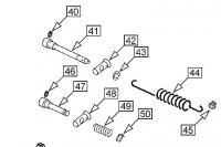 Throttle cross shaft parts