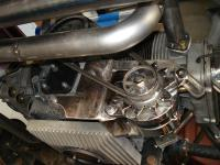 Wetty Turbo Header & Alternator Setup