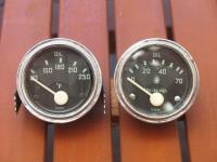 60's 6V vdo oil temp and pressure gauges
