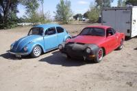 My sisters ghia and my bug