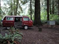 vanagon at prairie creek state park
