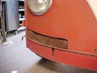 1963 Panel Bus nose rust repair