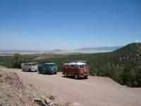 on the road in a splitty