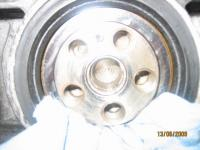 Destroyed pilot bearing