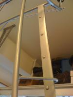 First coat of paint on rack