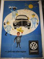 vintage vw bug poster 50'ties