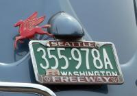 License Plate - on '55 Sedan