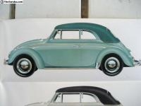 super rare bug convertible L 380 / top color 570 Turkis / turquoise l380 1960
