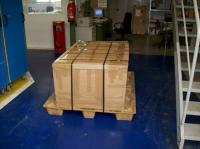 NOS Camping-Box being crated at Westfalia factory