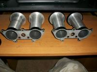Solex 40 P-11 velocity stacks with covers
