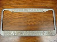 Gilroy Al Sanchez Volkswagen Plate Frame