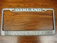 Oakland Johnson Pacific Volkswagen Plate Frame