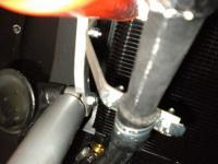oil lines/filter bracket