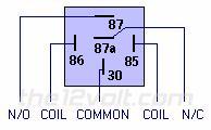 Relay pins SPDT