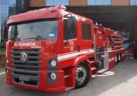 Slammed VW fire truck
