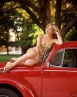 Christina Applegate and her Beetle